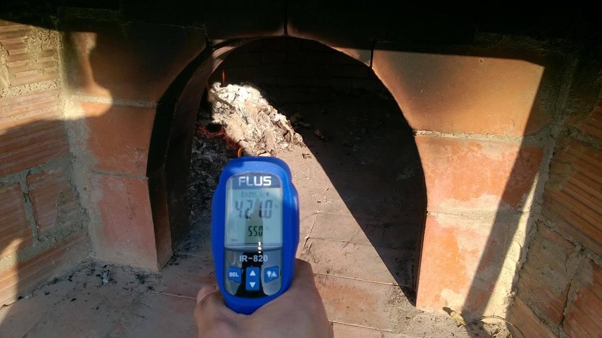 Installazione termometro per forno a legna translation - Temperatura forno a legna pizza ...